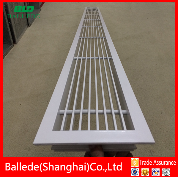 aluminum white floor return air grille / floor air return vent