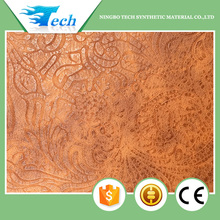 Pu new embossing pattern leather for shoe upper, design close natural skin(cuero sinteticos para zapatos)
