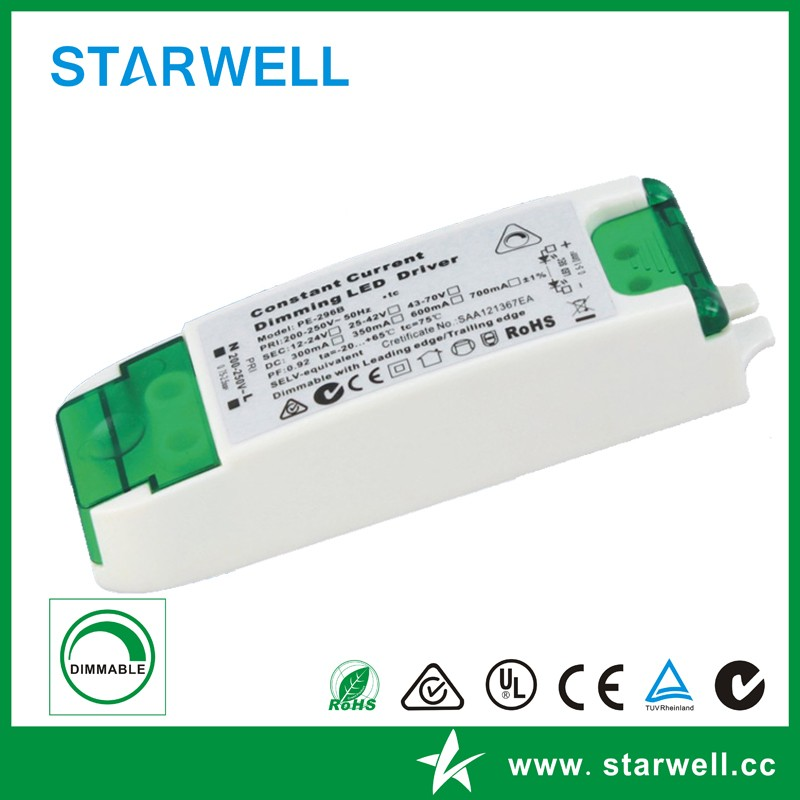 3~50W CE SAA approval triac dimmable led driver