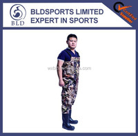 100% waterproof high quality nylon camo hunting chest waders