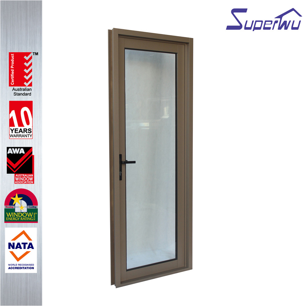aluminum powder tinted glass anti theft hinged door