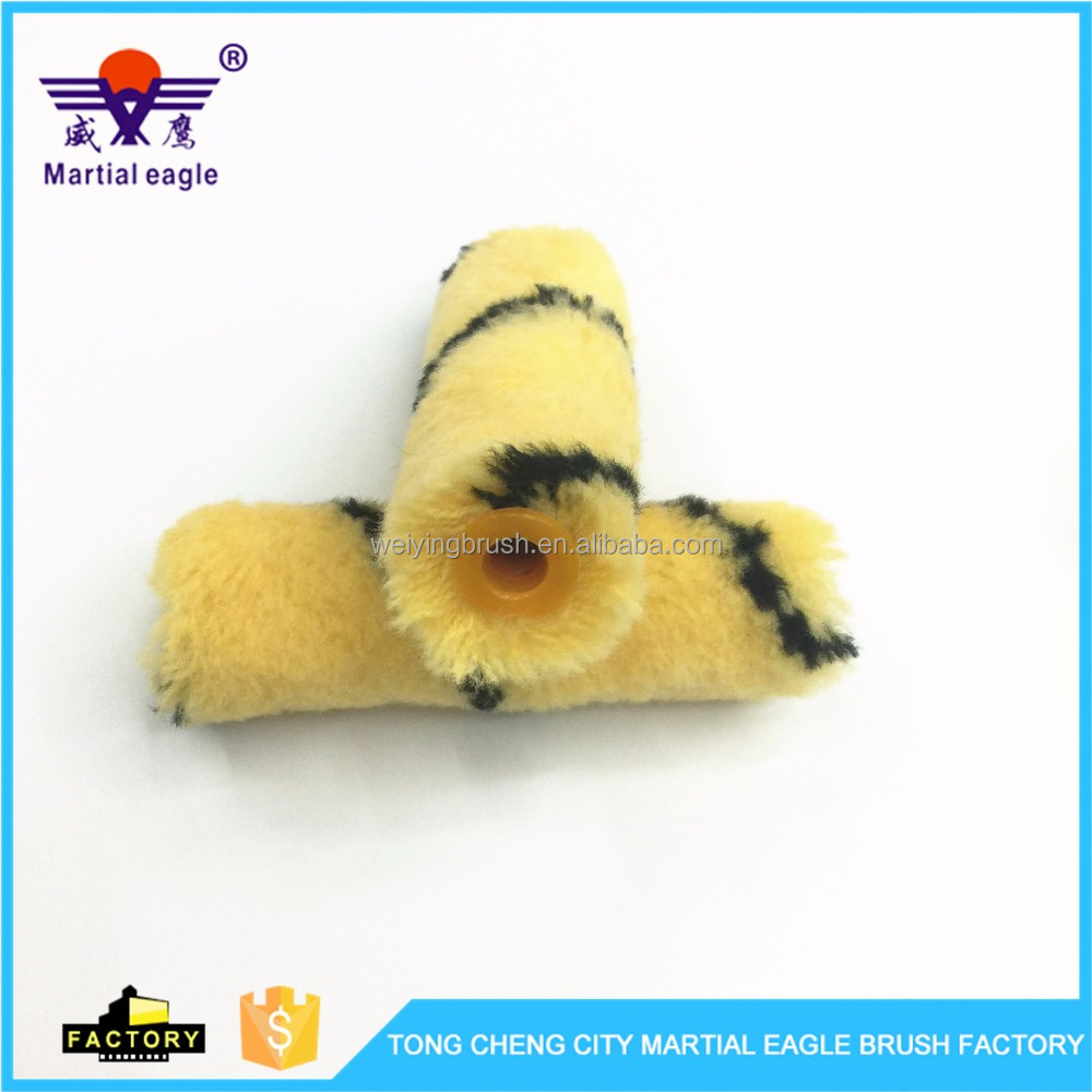 Hot sale 4'' mini hot melt quality roller brush/ Mini Industrial Paint Roller Cover High Density Hand Tool In Brush