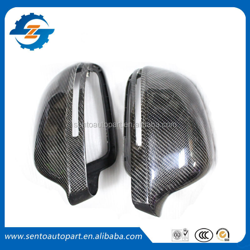 High quality A4 B8 carbon fiber replacement Back mirror cover for Audi A4 B8 Rear view mirror cover