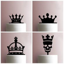 customized plexiglass acrylic 100 Cake Topper with Imperial crown Monogram for Birthday Baby Shower Party Decoration Kids