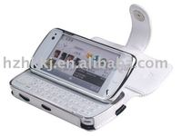 Leather Case For Nokia N97 - Type A(white)