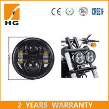 Hotest 4.7inch 40w 20w sealed beam harley Dyna Fat bob model led headlight high low projector
