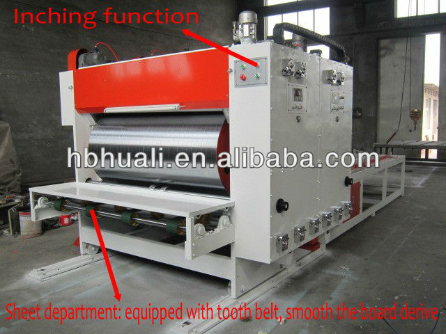 high speed printing slotting die cutting machine for carton box