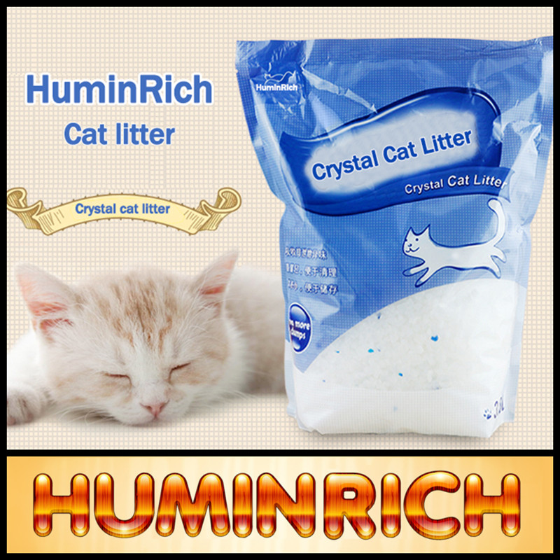 Huminrich Eco-friendly Colored Cat Litter Crystals / Silica Gel Price
