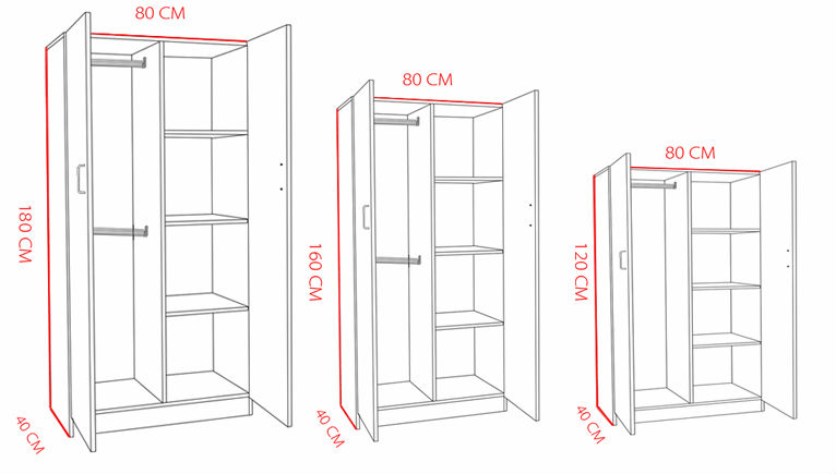 Open Bedroom Melamine Door Wall Wardrobe Closet For Sale