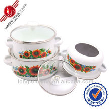 Full decal non-stick ceramic casserole cookware
