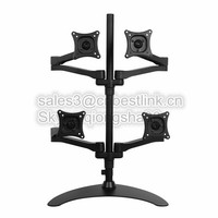 Space Generator Dual LCD bracketArm -Black (Desk Clamp / Grommet Mount)