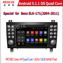 Android 5.1.1 car radio player with Camera/Wi-Fi/DVD Chipset for Ben z slk-171 (2004-2011)