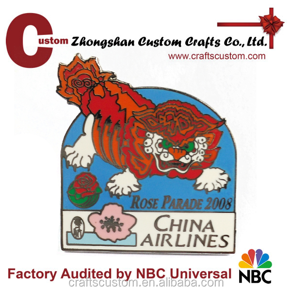 Custom Synthetic Enamel China Dragon metal lapel pin