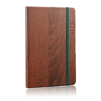 Custom wood grain PVC paper hardcover journal planner