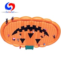 20m L*15m W world largest corn maze inflatable pumpkin bounce pad for kids adult