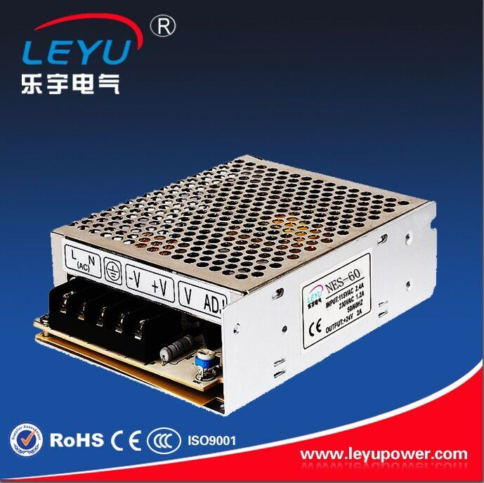 HIGH efficiency 60w 12v mini power supply CE RoHS approved NES-60-12 single output led <strong>driver</strong>