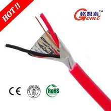 2 Core Flame Resistant Cable With Foil Shield for security