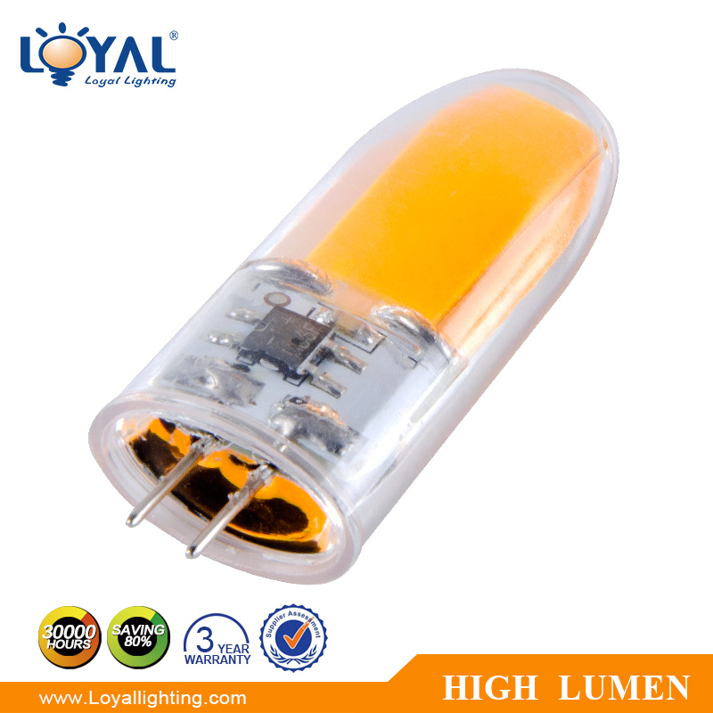 IP20 Indoor high lumen filament cob 1w 2w 3w led bulb g4 240v