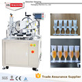 Semi automatic linear tube filling sealing machine for massage oils