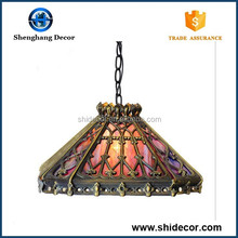 Tiffany Camping Lamp antique hanging lamp unique design china made glass tiffany lamp