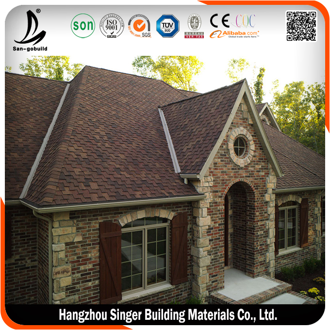 Factory direct roofing shingles, high quality red asphalt shingles prices