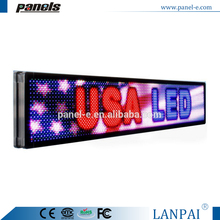 "Programmable led sign full color 12""X38"" OUTDOOR High Resolution P10 MM display"