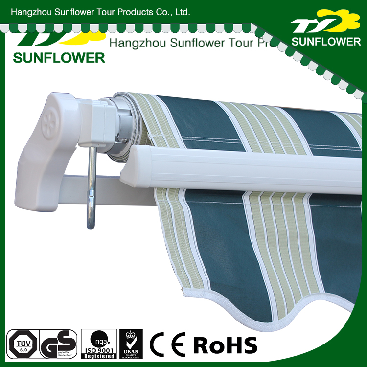 Remote Control Waterproof best selling large retractable awning