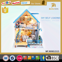 Christmas gift diy toy wooden doll house