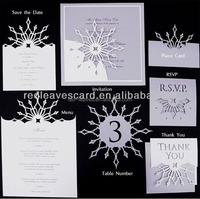 Wedding gift for guests purple laser cut wedding invitation wedding cards on cotton paper