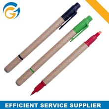 Highlighter and Ballpoint Double Side Recycled Paper Ball Pen