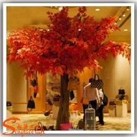 Hot selling large artificial tree plastic maple tree for school and garden decoration