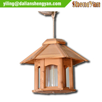 Wooden bird houses , Small pavilion bird feeder