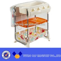 durable steel tube baby bath changing table