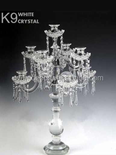 Clear k candelabra centerpieces wedding decorative arms