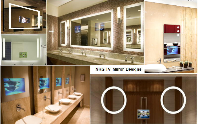 Hotel Bathroom TV IP44 Frameless CE Waterproof Smart Mirror Tv