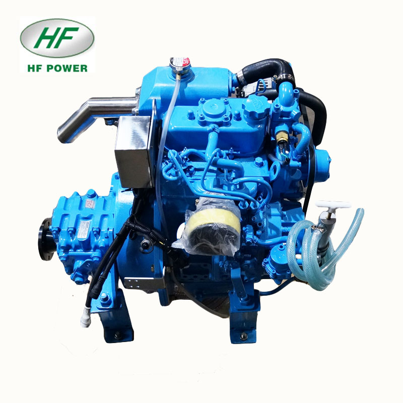 HF-2M78 14hp twin cylinder small marine diesel engine