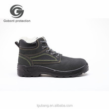 GB-617 Good price car snow grips construction shoes with artificial wool and steel toe safety men shoe