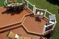 140*23mm waterproof outdoor deck flooring solid and grooved composite wood decking WPC Board Manufactures