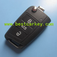 Topbest Original smart car key for VW Golf 7 3 buttons car key 433mhz 48 chip