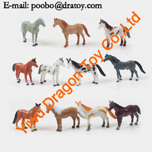 new cute animal 3d plastic hard toys