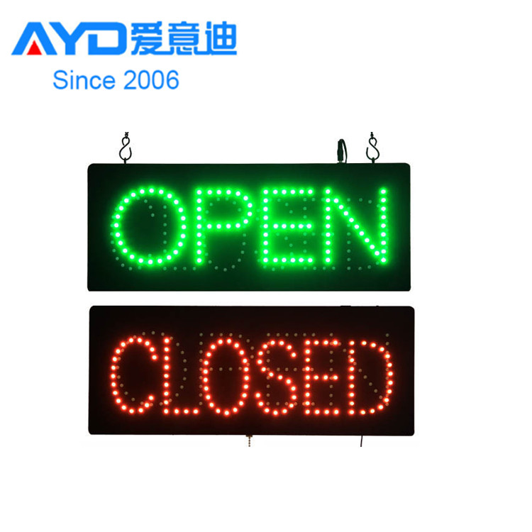Rectangular Shape Open Close Exchange Acrylic LED <strong>Sign</strong>