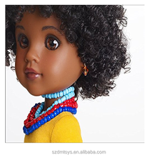 Black skin doll figures/wholesale Custom plastic african american black fashion dolls