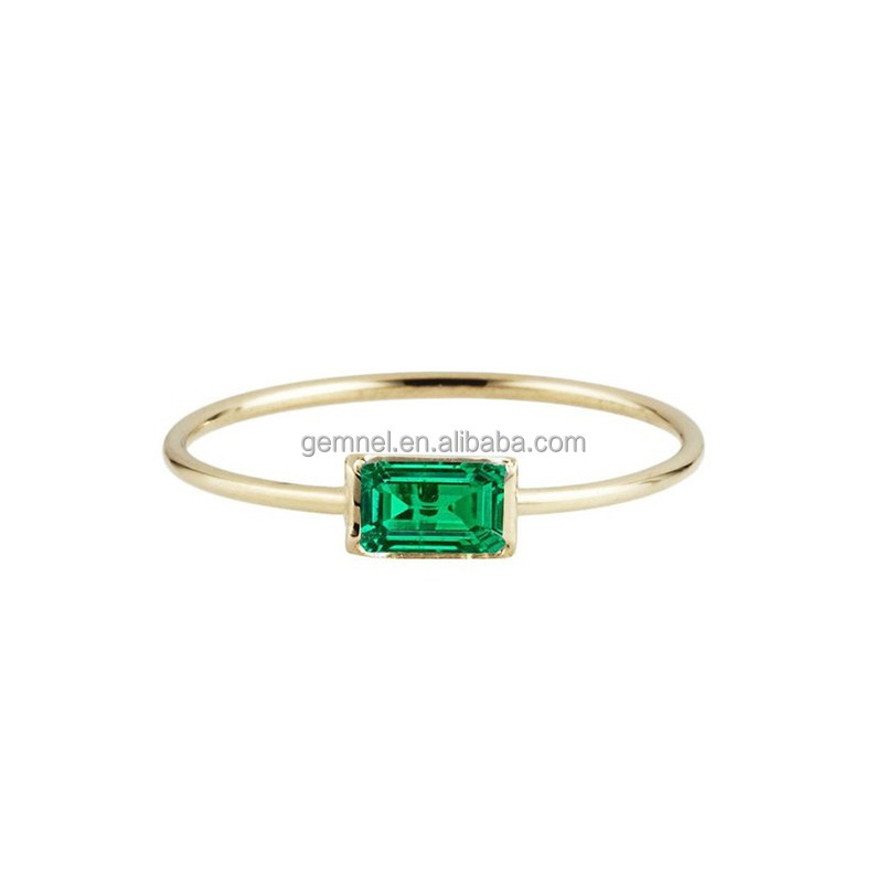 New arrival 14k gold plated men emerald stone jewelry ring wholesale