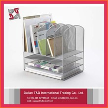 metal meshs office supplies filling products silver file organizer