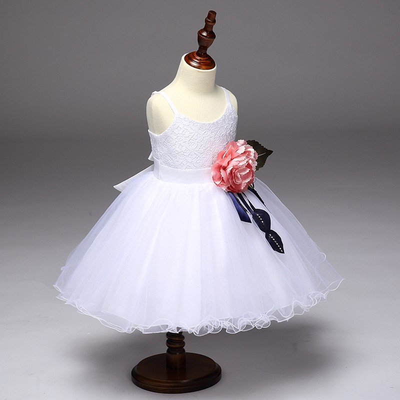 Popular frock design hot sale children clothing denim kids graduation gown L9023
