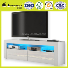 high gloss white 32 inch tv stand/mobile tv stand FREE LED RGB