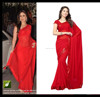 CHARMING RED BOLLYWOOD DESIGNER SARI WEDDING PARTY WEAR SAREE ETHNIC ...R4812