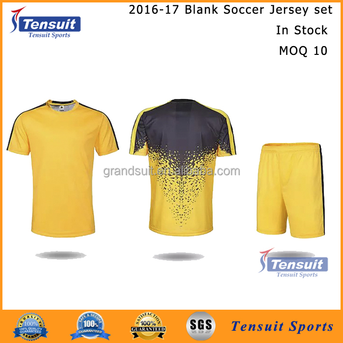 customzie your unique cool soccer jersey set home and away classic short sleeve blank football uniform of low price