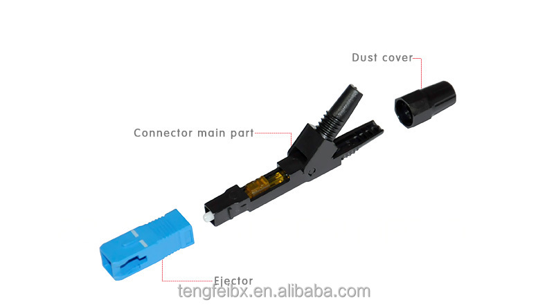 Top Quality fiber optic fast connector/quick assembly SC connector