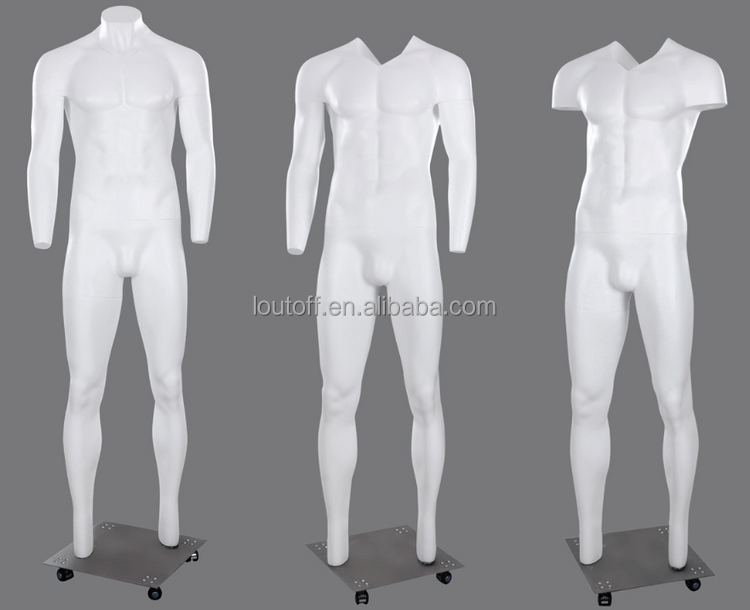 Brand new V neck-cut window display invisible male Ghost mannequin